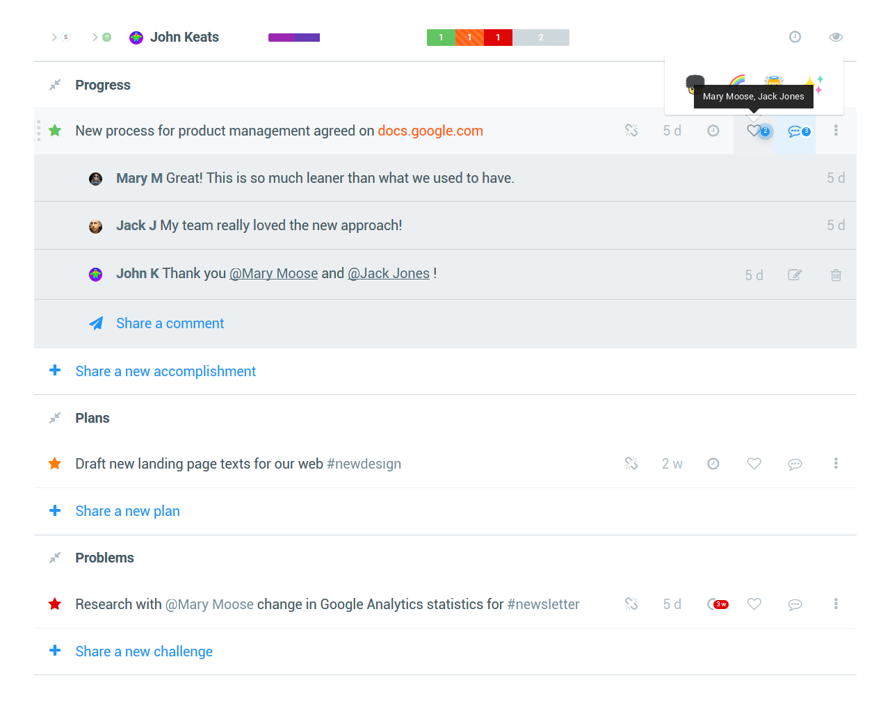 Weekdone Weekly Planning Quarterly Objectives and Key Results OKR – Employee Weekly Report